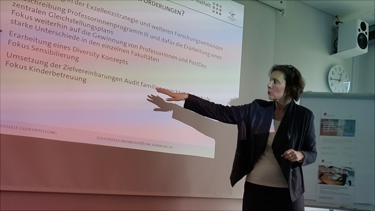 Angelika Paschke-Kratzin bei der Präsentation während der Aktiven Mittagspause