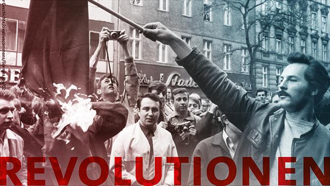 """Titelbild des Programms mit Schriftzug """"Revolutionen"""""""