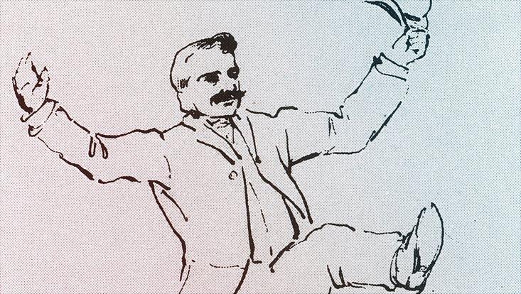 Zeichnung von Aby Warburg