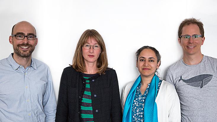 Prof. Dr. Michael Brüggemann, Prof. Dr. Stefanie Kley, Dr. Radhika Mittal und Prof. Dr. Grischa Perino