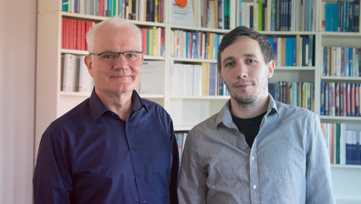 Dr. Martin Kahl und Maik Fielitz vom IFSH