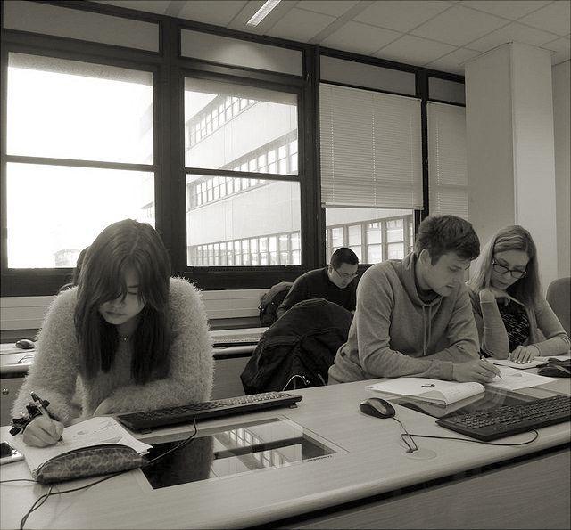Studierende im Selbstlernzentrum