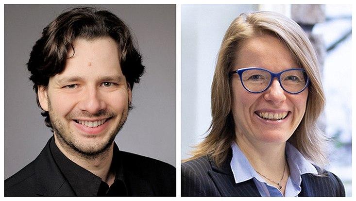 Dr. Felix Roth (l.) und Prof. Dr. Dr. Lydia Mechtenberg (r.)