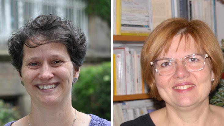 Das Bild zeigt Porträts von Susannah Ewing Bölke und Valérie Le Vot.