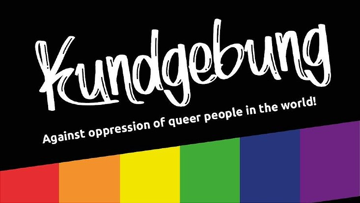 Kundgebung: Against oppression of queer people