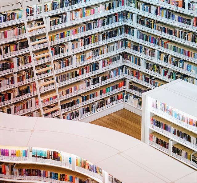 Grafik zeigt eine Bibliothek