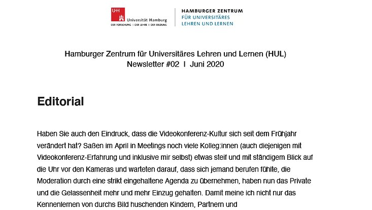 HUL-Newsletter Juni 2020