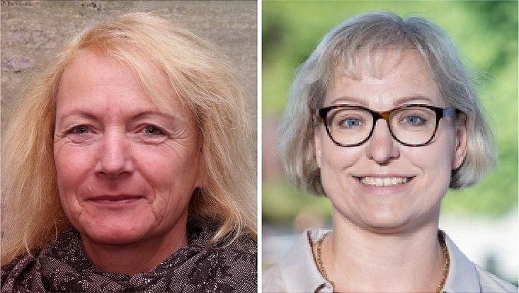Das Bild zeigt die Porträts von Prof. Dr. Telse Iwers und Dr. Christine Busch.