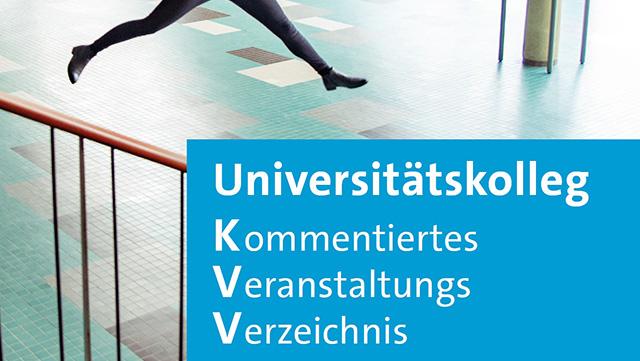 Das Bild zeigt das Cover des KVV SoSe 2020.
