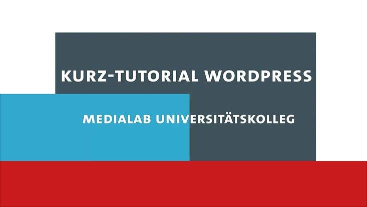 Das Bild zeigt den Schriftzug Video-Tutorial des Universitätskolleg-MediaLabs.