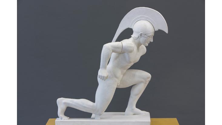 Krieger, Figur V vom Westgiebel des Aphaia-Tempels