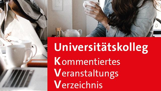 Das Bild zeigt eine Studentin mit einem Kaffeebecher vor ihrem Laptop.