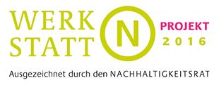 Das Logo des Rates für Nachhaltige Entwicklung:  Werkstatt N