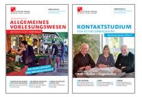 die Cover der Hefte Allgemeines Vorlesungswesen und Kontaktstudium