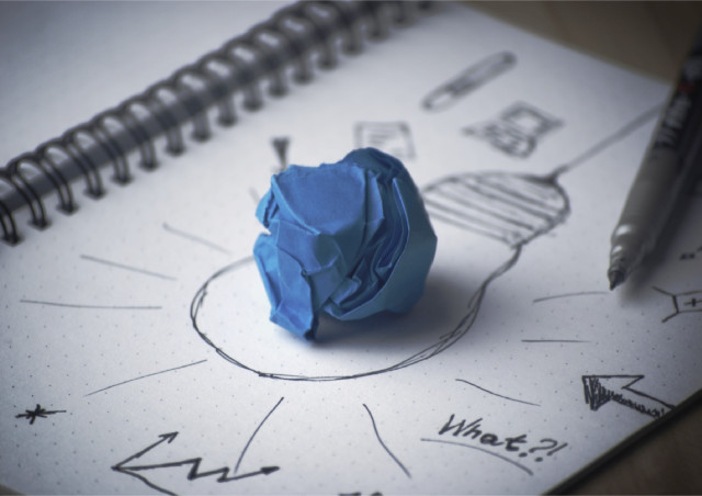 Papier Stift Brainstorming