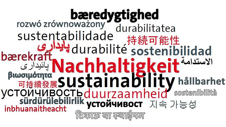 Sprachwolke Nachhaltigkeit