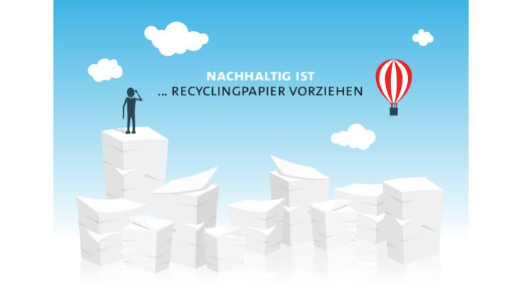 Postkarte Recyclingpapier
