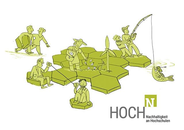 Wabenpuzzle, HOCH-N Logo