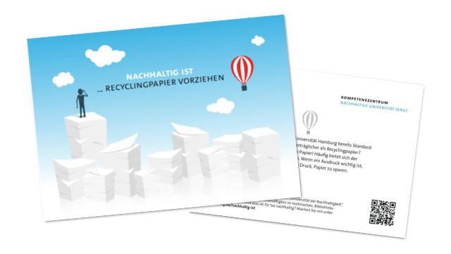 Postkarte Recyclingpapier vorziehen
