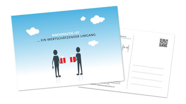 Postkarte Wertschätzender Umgang