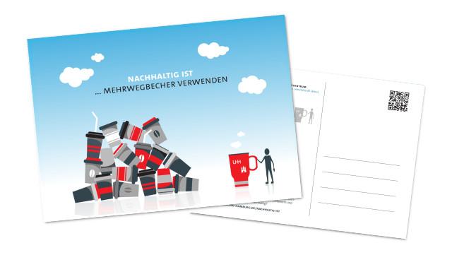 Postkarte Mehrwegbecher