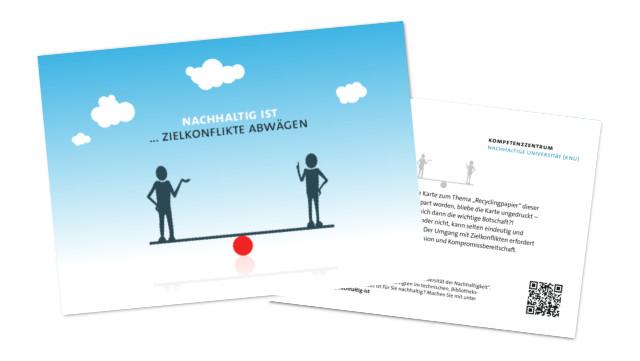 Postkarte Zielkonflikte