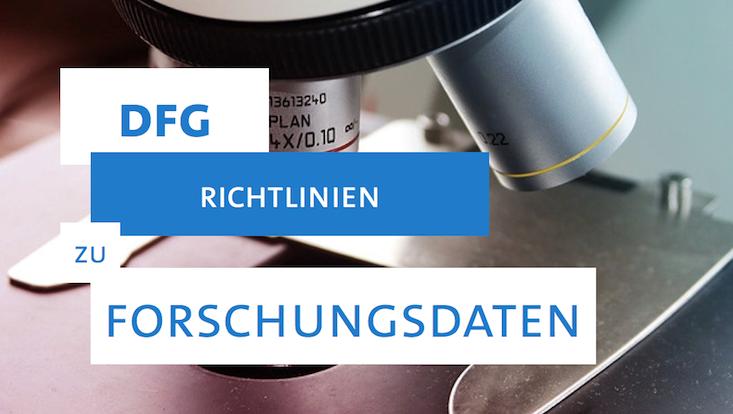DFG-Richtlinien zu Forschungsdaten