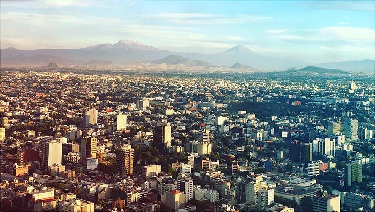 Panorama Ansicht von Mexiko City