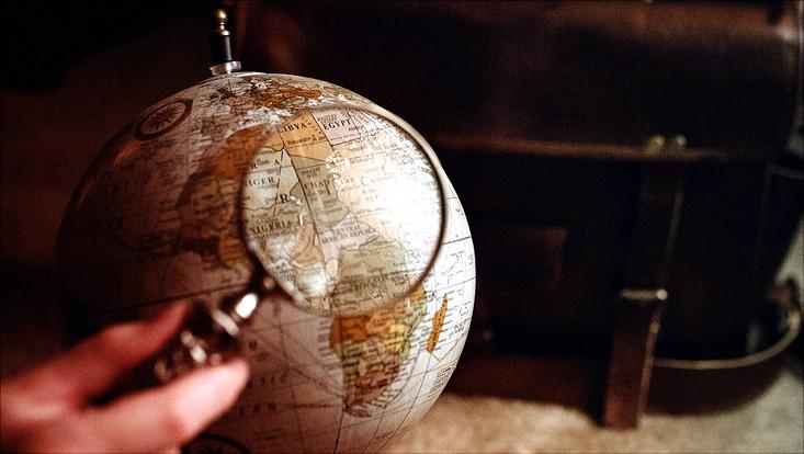 Lupe vor Globus