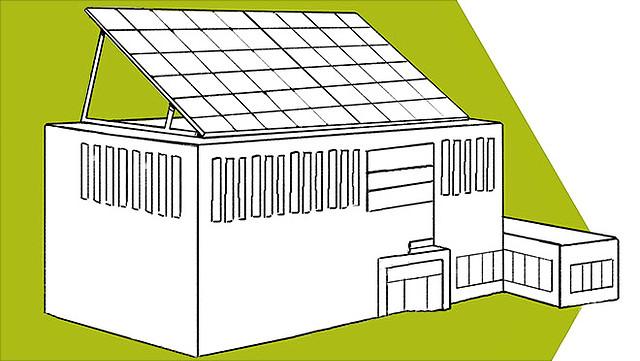 Illustration nachhaltiger Betrieb