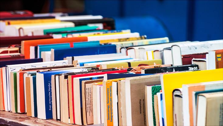 Eine Reihe Bücher