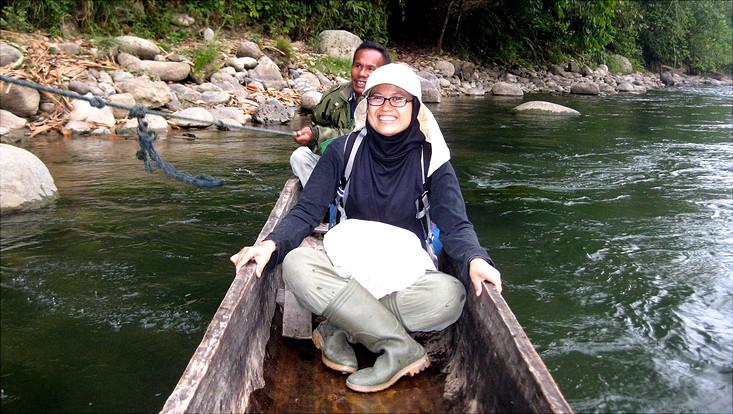 Umilaela Arifin auf Forschungsreise in Indonesien