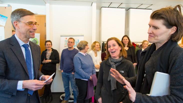 Preisverleihung Wettbewerb 'Nachhaltig ist' mit Kanzler Dr. Martin Hecht