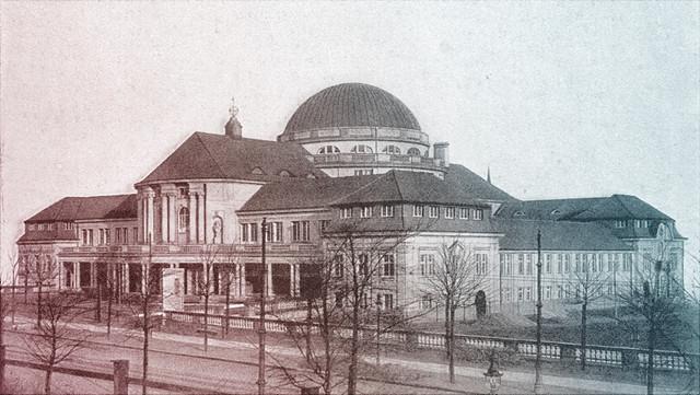 historisches Bild vom Hauptgebäude