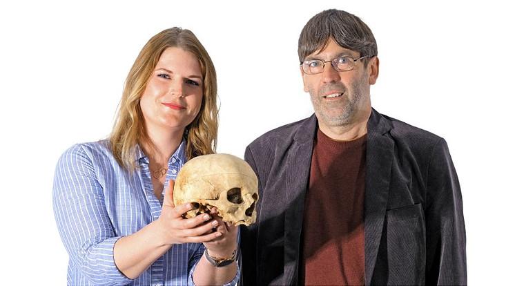 Carolin Schröder und Prof. Norbert Fischer