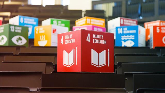 SDG-Würfel im Hörsaal ESA 1 A