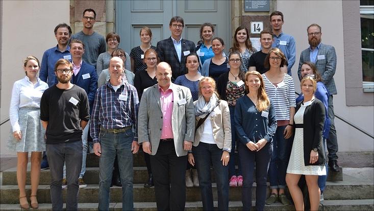 Gruppenfoto der Teilnehmer und Teilnehmerinnen des Netzwerktreffens niedersächsischer Hochschulen am 14.96.2018