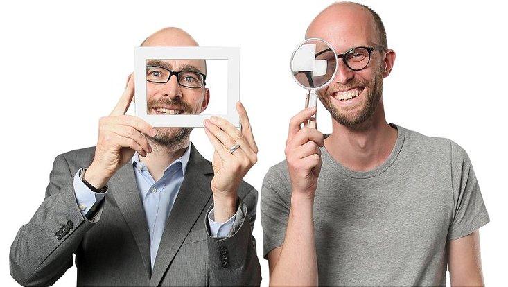 Kommunikationswissenschafter Prof. Dr. Michael Brüggemann (l.) und Dr. Alexander Dinges, Theoretische Philosophie