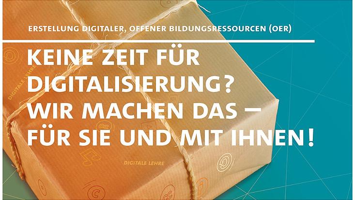 """HOOU@UHH Poster """"Keine Zeit für Digitalisierung? Wir machen das - für Sie und mit Ihnen!"""""""