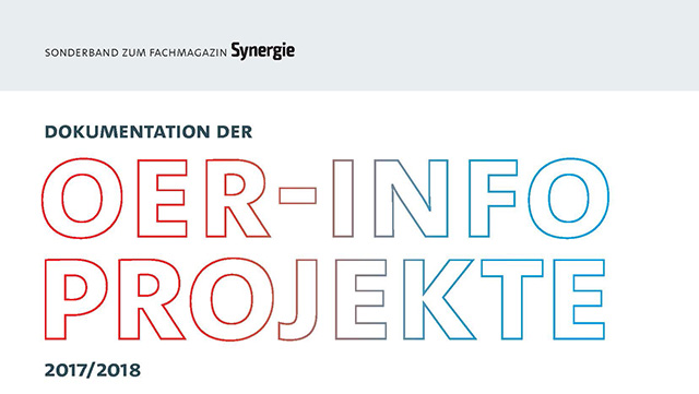 Titelseite des OER-Info-Projektbandes
