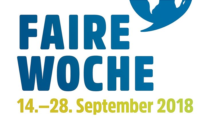 Das Logo der Fairen Woche sowie das Veranstaltungsdatum 2018 ist zu sehen.