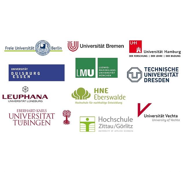 Logowolke der HOCH-N Projekthochschulen