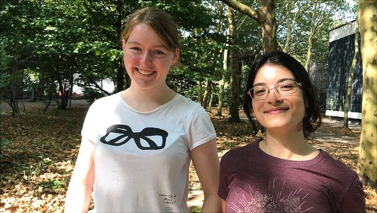 Neu im FÖJ: Larissa Möckel und Nicole Wolff