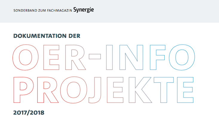 Coverausschnitt Synergie-Sonderband OERinfo-Projekte