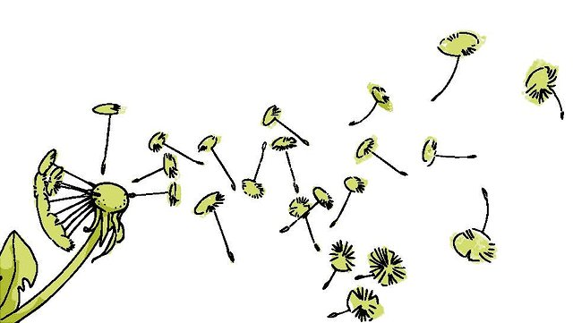 Illustration einer Pusteblume