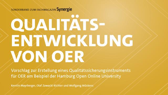 Ausschnitt Cover Synergie-Sonderband Qualitätsentwicklung von OER