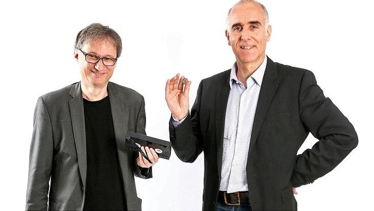Thomas Weber, Professor für Medienwissenschaft am Institut für Medien und Kommunikation der Universität Hamburg (l.) und Christian Kubisch, Professor für Humangenetik und als Direktor des Instituts für Humangenetik am Uniklinikum Eppendorf (UKE)