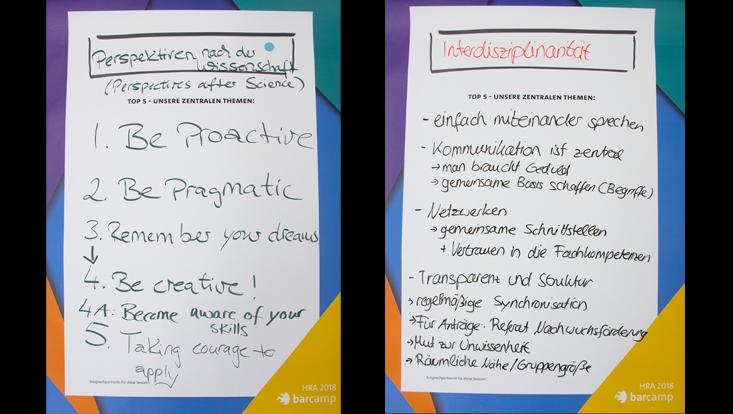 Plakate vom barcamp WissenSCHAFFTkarrieren