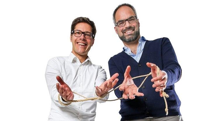 Philosoph Prof. Dr. Stephan Schmid und Historiker Prof. Dr. Markus Friedrich