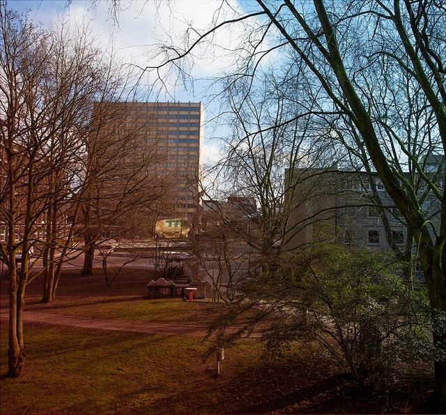 Blick auf den Campus VMP